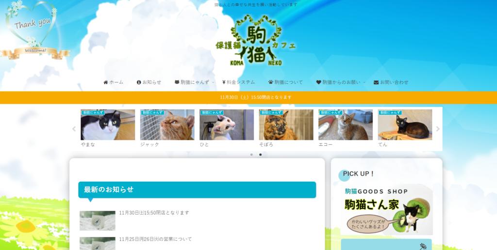 保護猫駒猫のホームページ
