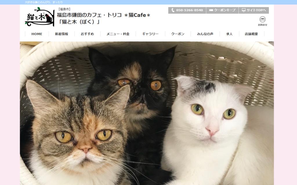 猫と木(ぼく)ホームページ