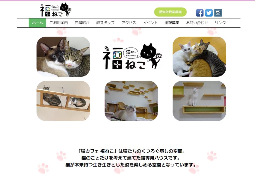 猫カフェ 福ねこホームページ