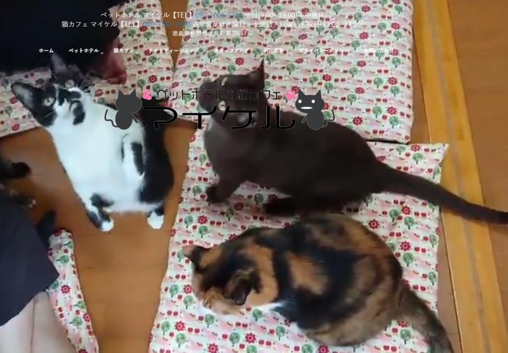 猫カフェマイケルのホームページ