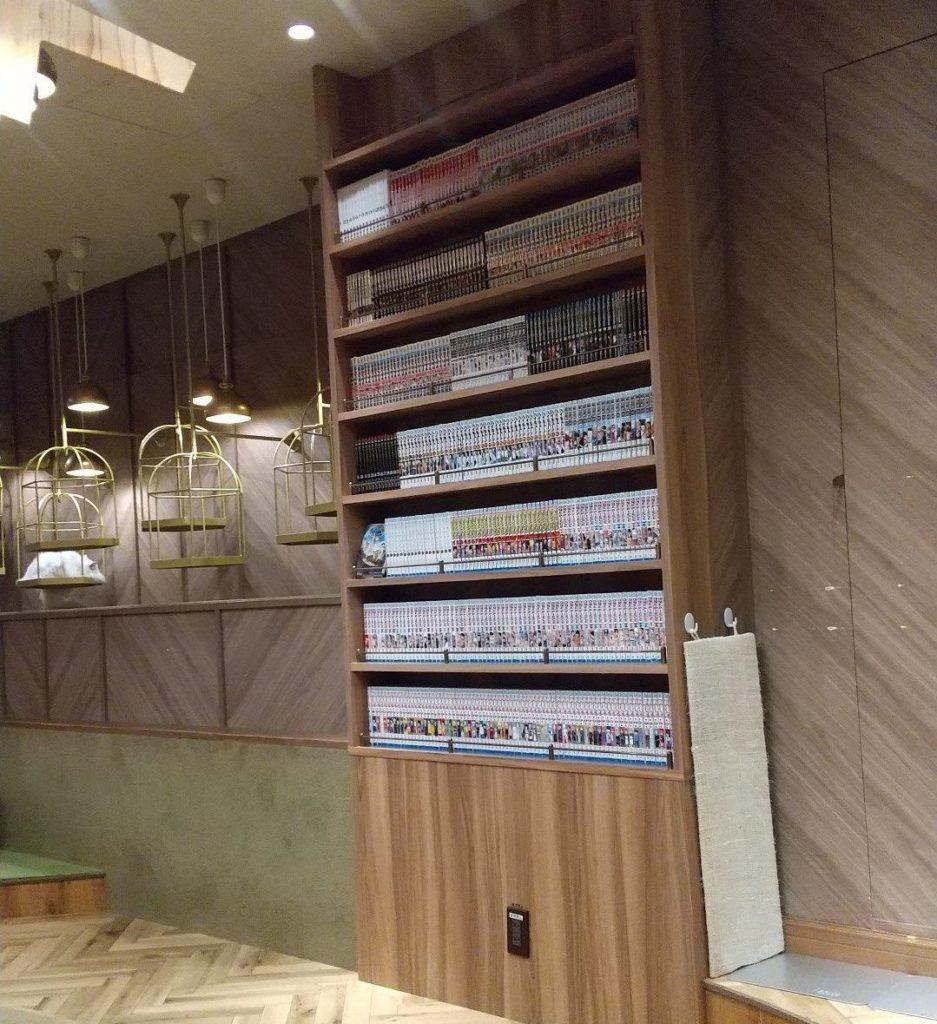 猫カフェモカ 大阪心斎橋店の店内